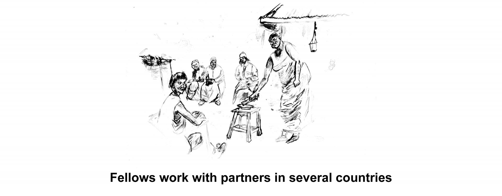 Fellows work with partners in several countries