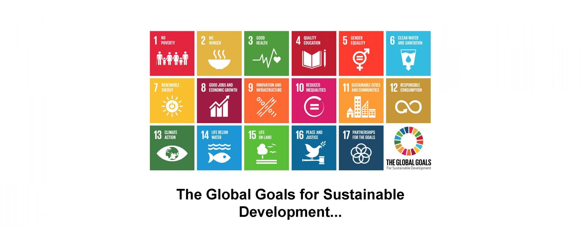The Global Goals for Sustainable Development...