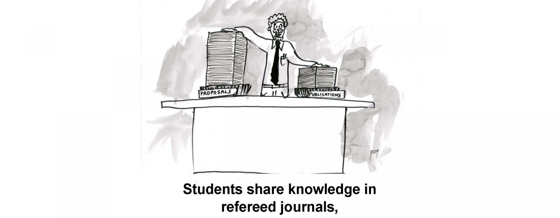 Students share knowledge in refereed journals,