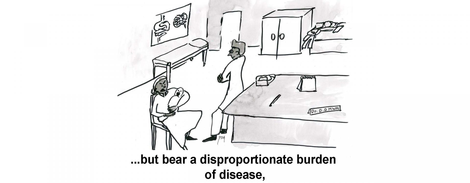 ...but bear a disproportionate burden of disease,